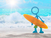 Surfer dude on the beach. — Stock Photo