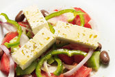 Greek salad, in closeup.  — Stock Photo
