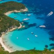 Aerial view of Voutoumi beach in Paxos — Stock Photo