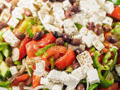 Fresh Greek salad at the restaurant — Stock Photo