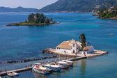 Scene of Vlacherna monastery, Kanoni, Corfu — Photo