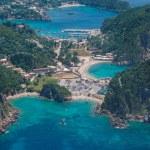 Aerial view of The bay of Paleokastritsa in Corfu — Stock Photo #48185961