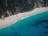 Aerial view of The bay of Paleokastritsa in Corfu — Stock Photo