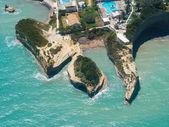 Vue aérienne sur sidari à Corfou kerkyra — Photo