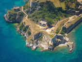 Old Byzantine fortress in Corfu, Greece — Stock Photo