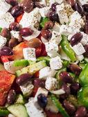 Fresh Greek salad at the restaurant — Stock Photo