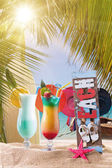 Cocktail on the tropical beach — Stock Photo
