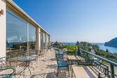 Hotel balcony  in Paleokastritsa — Stock Photo