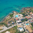 Aerial view of the island of Corfu — Stock Photo