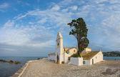 Scene of Vlacherna monastery, Kanoni, Corfu — Foto de Stock