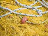 Fishing nets with floats — Stock Photo