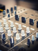 Closeup of dj controller - selective focus — Stock Photo