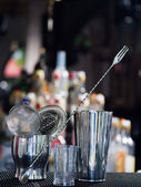 Bartender tools at the club — Stock Photo