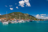 Harbor of Nidri on Lefkas island — Stock Photo