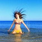 Sexy bikini model having fun — Stock Photo #7269724