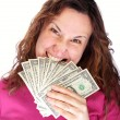 Biting money — Stock Photo