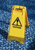 Caution wet floor — Stock Photo