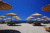 Beach parasols — Foto Stock