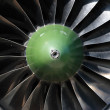 Turbine of airplane - Stock Photo