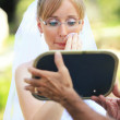 Stock Photo: Bride make up