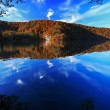 Lake in autumn — Stock Photo