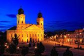 Debrecen city, Hungary at night — Stock Photo