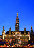 Vienna's City Hall at christmas advent — Stock Photo