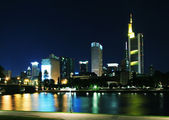 Frankfurt-on-Main in night — Stock Photo