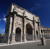 Triumphal arch of Constantine in Rome, Italy — Stock Photo