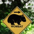 Wombat sign — Stock Photo