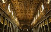 Interieur van de pauselijke basiliek van saint paul — Stockfoto