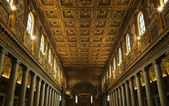Interior of Papal Basilica of Saint Paul — Stock Photo
