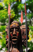 Tribal statues — Stock Photo