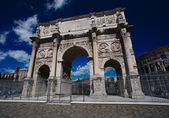 Triumphal arch of Constantine in Rome — Stock Photo