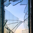 Broken windows glass — Stock Photo