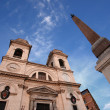 Church of Triniti dei Monti, Rome — Stock Photo