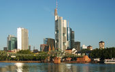 Frankfurt am Main cityscape with skyscrapers — Stock Photo
