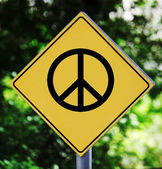 Peace pictogram — Stock Photo