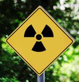 放射性ピクトグラム — ストック写真