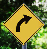 Turn right pictogram — Stock Photo