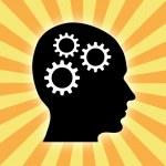 Gears in brain — Stock Photo