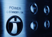 Power button on control panel — Stock Photo