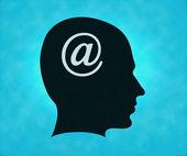 E-mail man — Stock Photo