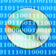 Dvd disc with binary numbers — Stock Photo #48953797