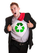 Recycling guy — Stock Photo