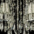 Royalty-Free Stock Photo: Contemporary glass chandelier crystals