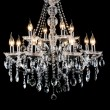 Contemporary glass chandelier — Stock Photo #14283213