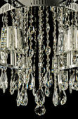 Contemporary glass chandelier crystals — Stock Photo