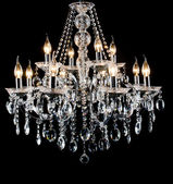 Contemporary glass chandelier — 图库照片