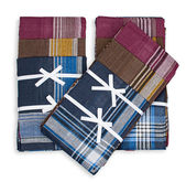 Set of three handkerchiefs — Stock Photo